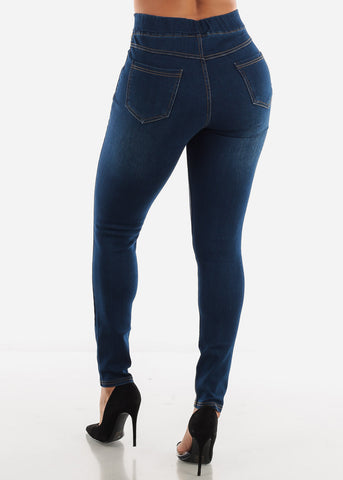 Image of Dark Blue Ripped Jeans