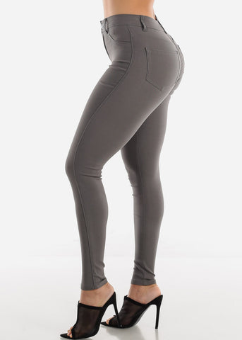 Image of High Waisted Grey Jegging Skinny Pants