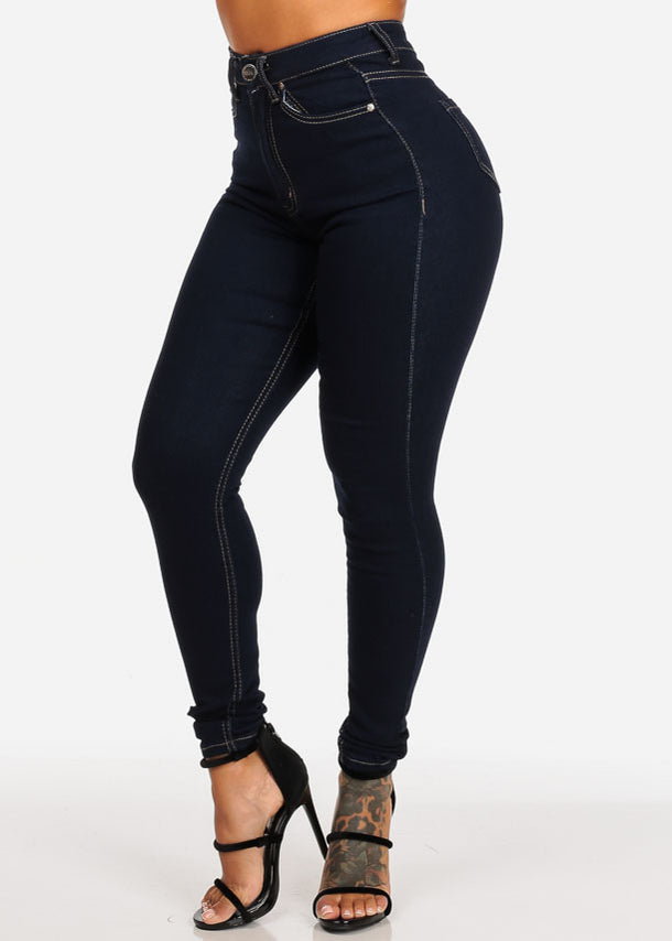 Classic Dark High Waisted Jeans