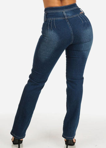 Image of Butt Lifting High Waist Straight Leg Jeans