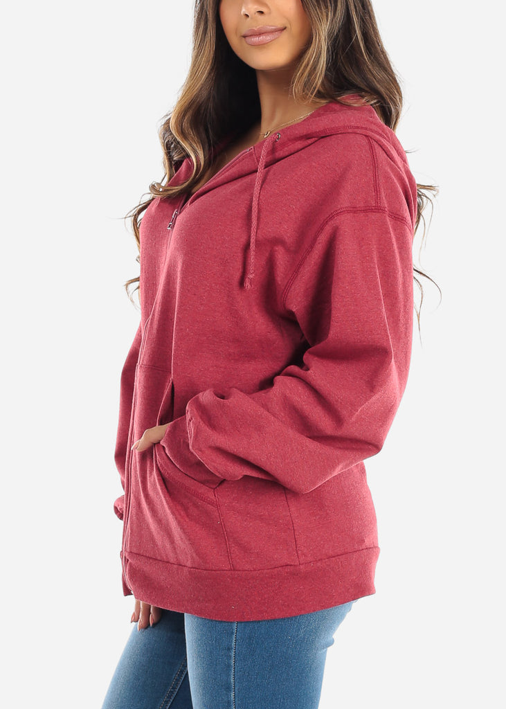 Zip Up Ruby Sweater