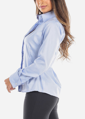Light Blue Wrinkle-Free Button Down Shirt