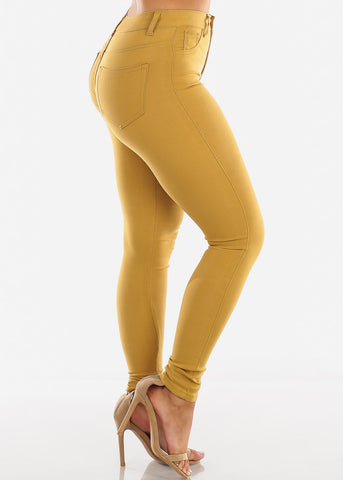 High Waisted Mustard Jegging Skinny Pants
