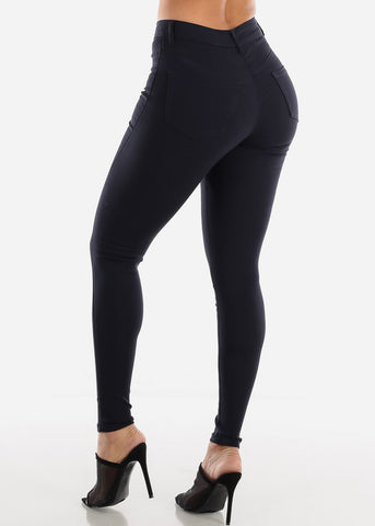 Image of Navy Jegging Skinny Pants