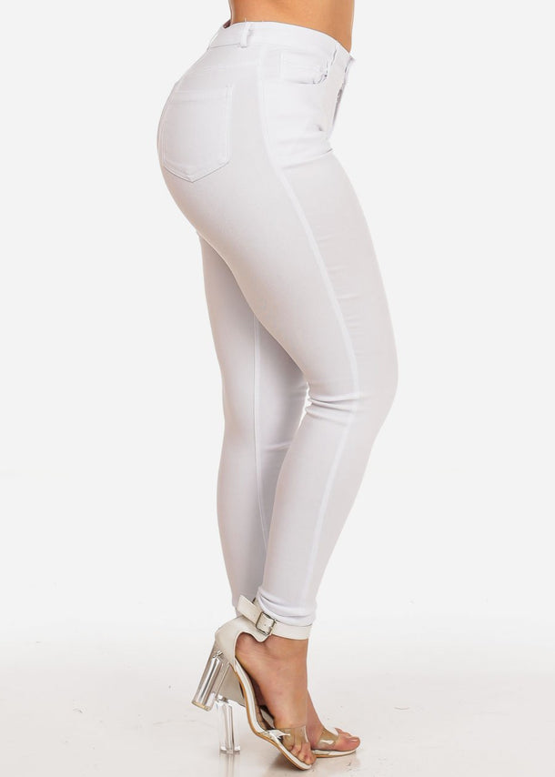 \White Skinny Stretchy Jeans