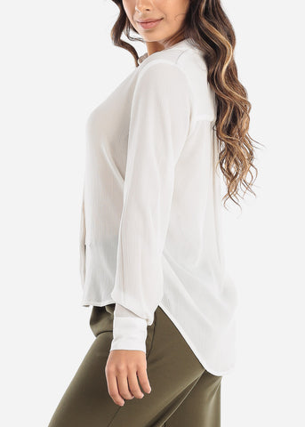 White Button Down Blouse
