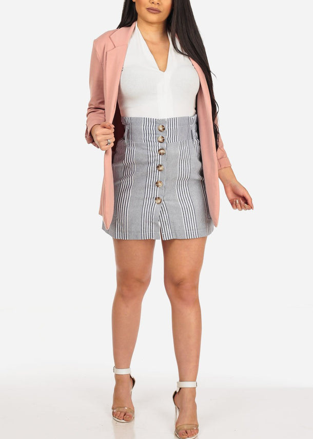 Classic Rose Stretchy Blazer
