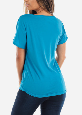 Women's Next Level Light Dolman Turquoise Tshirt