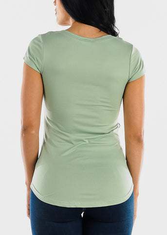 "Image of Mint Graphic Top ""Today Is Not My Day"""