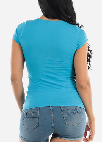 "Image of Blue Graphic T-Shirt ""Boss Lady"""
