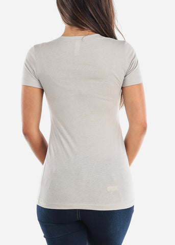 Women's Next V-Neck Silver Tshirt