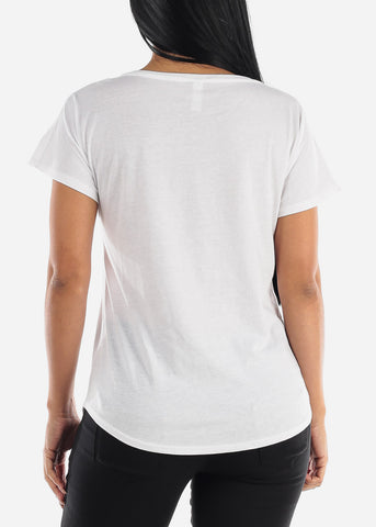 "Image of Graphic White Top ""Shhh"""