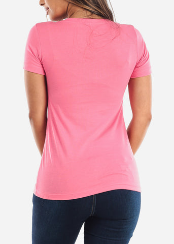 Image of Women's Next V-Neck Pink Tshirt