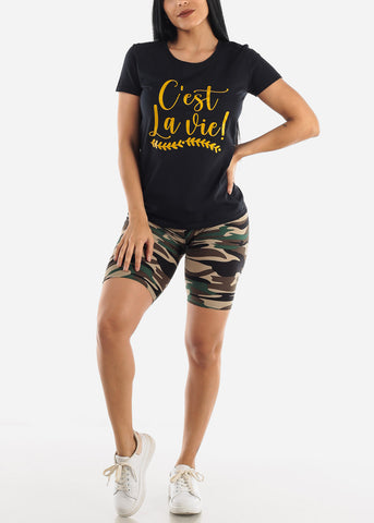 "Image of ""C'est La Vie!"" Black Top"