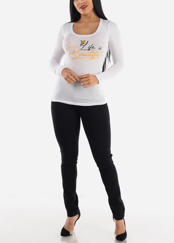 "Image of ""Life Is Beautiful"" Long Sleeve Top"