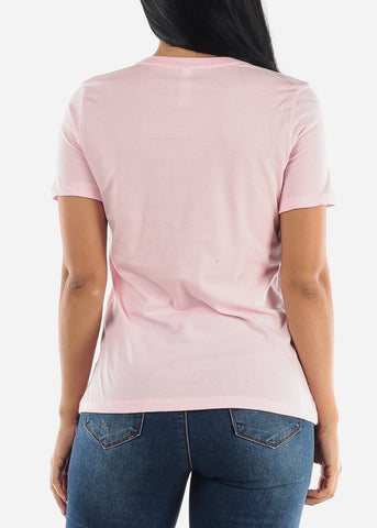 """Sunday Is For Snuggles"" Pink Top"