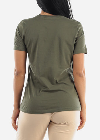 """Sweeter Than Honey"" Olive Top"