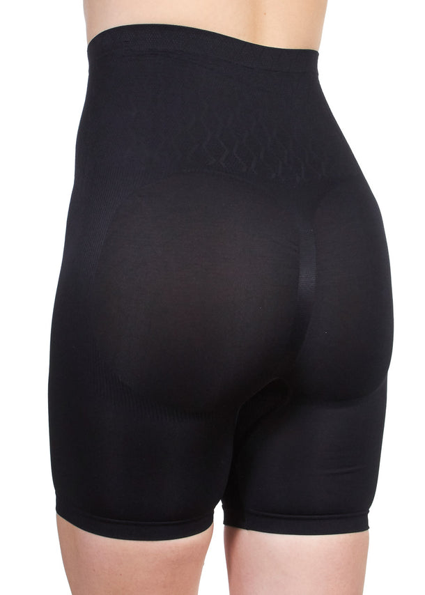 Seamless Long Leg Shaping Black Brief