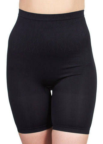 Image of Seamless Long Leg Shaping Black Brief
