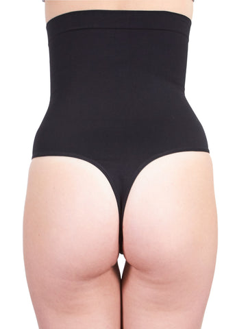 Image of High Waisted Black Shaper Thong