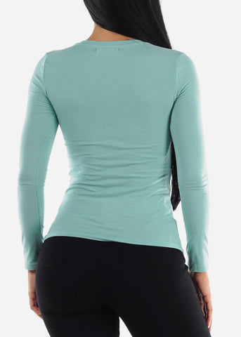 """Fearless"" Mint Top"