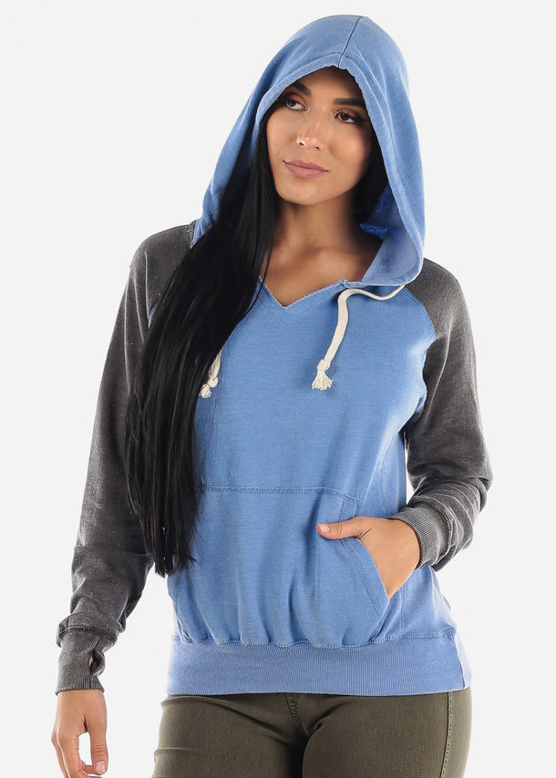 Blue Graphic Hoodie