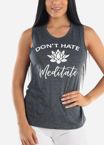 "Image of ""Don't Hate Meditate"" Sleeveless Top"