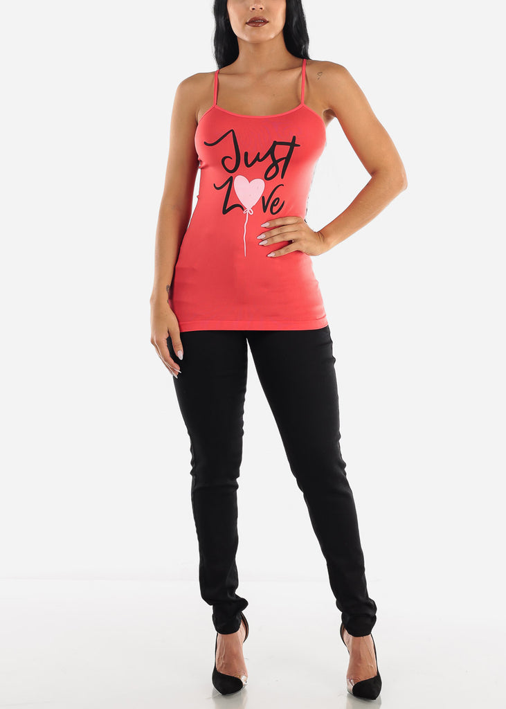 """Just Love"" Coral Tank Top"