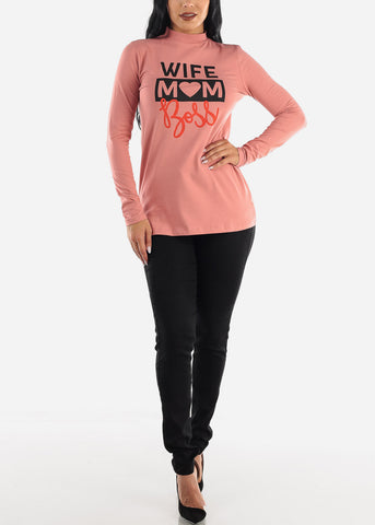 """Wife Mom Boss"" Longsleeve Top"