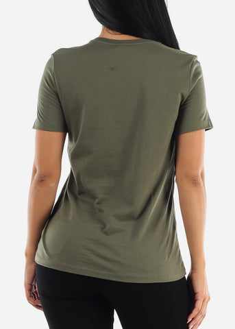 """Fearless"" Olive Top"