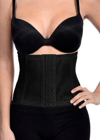 Black Mesh With Lace Waist Cincher