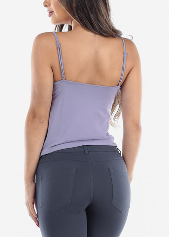 Sleeveless Lavender Top