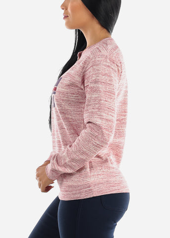 "Rose Heather Graphic Sweatshirt ""Peachy"""