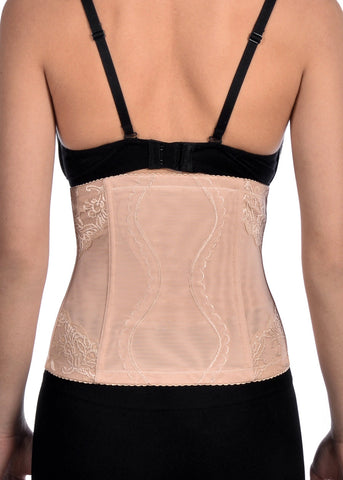 Nude Mesh With Lace Waist Cincher