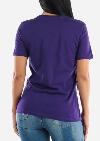 """Classy and Sassy"" Purple Graphic Tee"