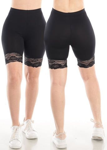 Image of Black Biker Shorts (2 PC PACK)