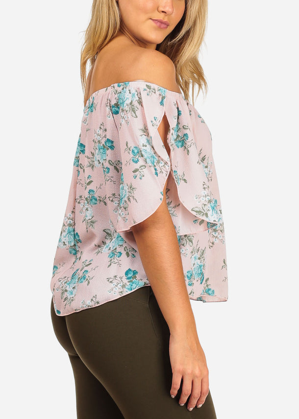 Stylish Floral Pink Top