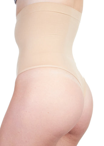 Image of High Waisted Nude Shaper Thong