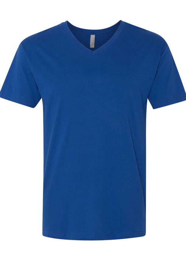 Men's Next Level Premium 100% Cotton V Neck Royal Blue Tshirt