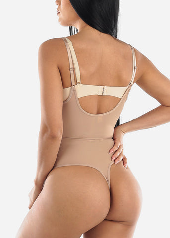 Image of Lace Shaping Nude Bodysuit Shapewear
