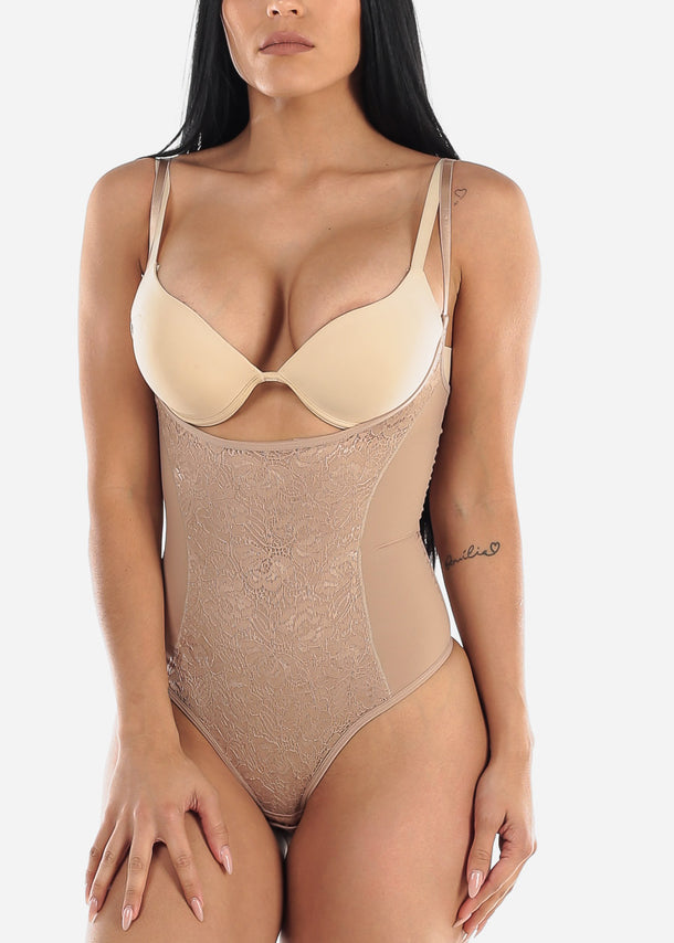 Lace Shaping Nude Bodysuit Shapewear