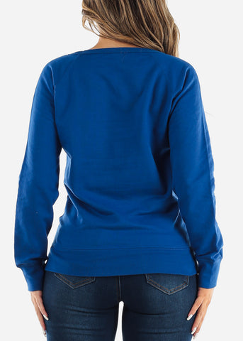 Long Sleeve Royal Blue Pullover