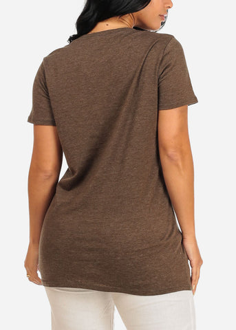 Image of Yeah No Olive Top