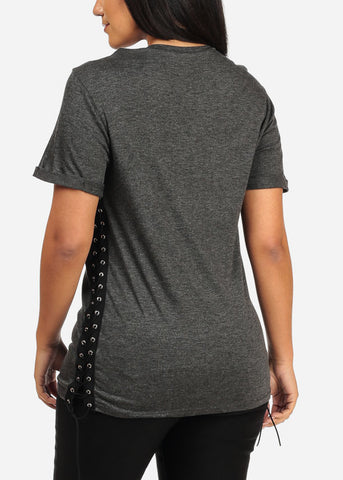 Stylish Charcoal Tunic Top