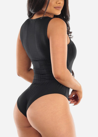 Image of Black Sleeveless Bodysuit