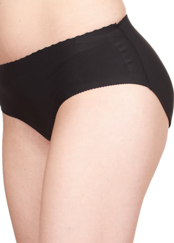 Image of Black Bikini Butt Enhancer Padded Panties