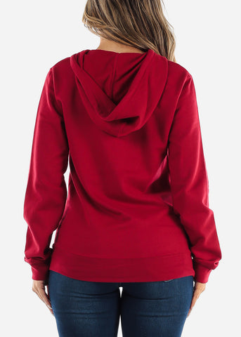 Red Zip Up Hoodie