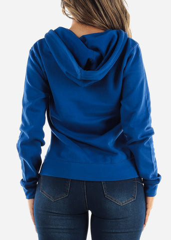 Royal Blue Zip Up Hoodie