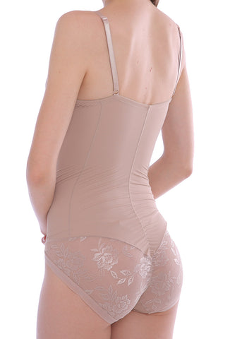 Shaping Nude Lace Shapewear Bodysuit