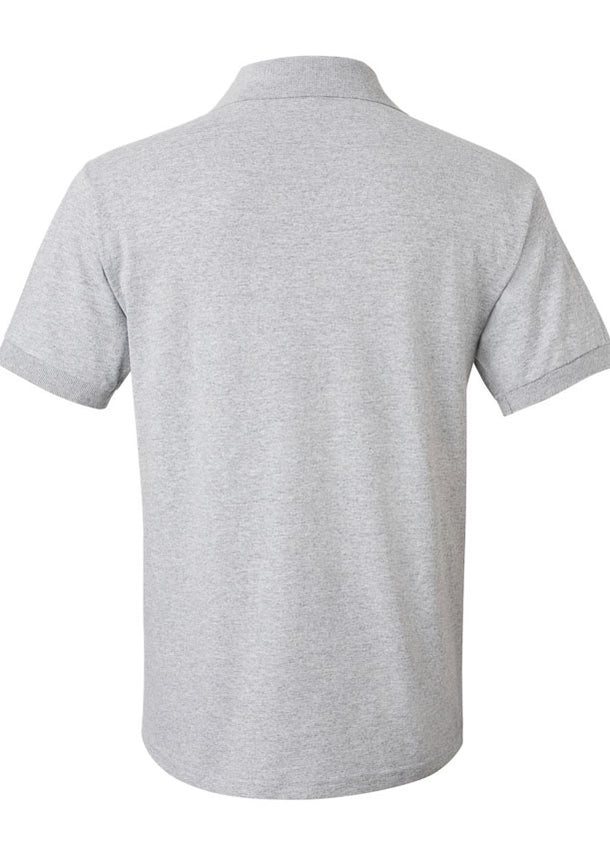 Men's Gildan Grey Polo